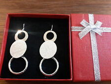 silver earrings and gift box Brand new large 925 stamped