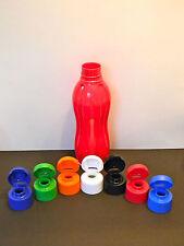 Tupperware Large Water Bottle 1L BPA Free Red Base & White Screw Seal Rare New