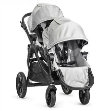 Baby Jogger 2015 City Select Double Stroller - Silver on Black Frame - Brand New