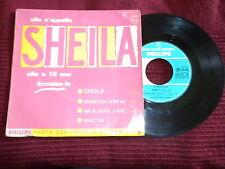 """45T 7"""" SHEILA """"Elle a 16 ans, écoutez là"""" PHILIPS 432.831 BIEM µ"""