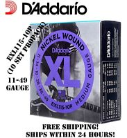 **10 SETS D'ADDARIO EXL115 ELECTRIC GUITAR STRINGS (NICKEL) EXL115-10P PROPACK**