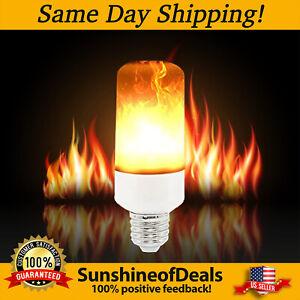 ANIKUV Flame Light Bulbs E26/E27 3 Modes LED Flickering Flame Bulb Decorative