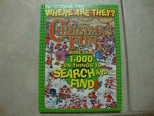 WHERE ARE THEY? CHRISTMAS FUN search & find h/c book, more than 1,000 things