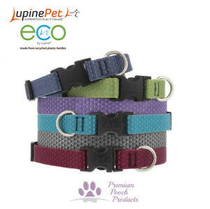 Lupine Pet Dog Collar SMALL sz Eco Friendly Webbing - Colours Inspired by Nature