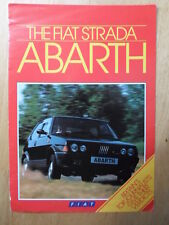 FIAT STRADA ABARTH orig 1984 UK Mkt Sales Brochure