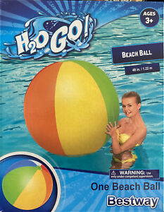 "New In Box H2ogo Bestway Huge 48"" Inflatable Beach Ball"