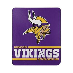 Minnesota Vikings Licensed Fleece Throw Blanket Football Split 50'' X 60''