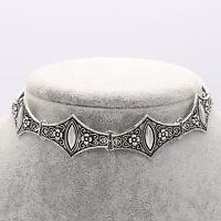Retro Fashion Women Metal Silver Chain Choker Collar Pendent Necklace Jewelry UK