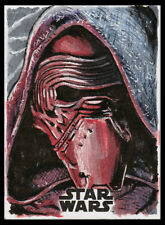 ARTIST PROOF Topps Star Wars Journey To The Last Jedi - Kylo Ren - JP Perez