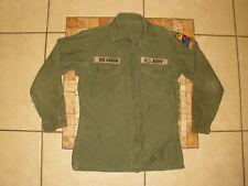 New listing Vtg 50's 60's Vietnam Korean War Us Army long sleeve Field Shirt Patches 34 36
