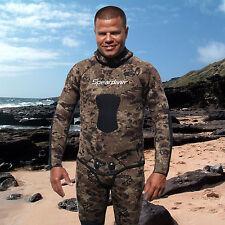 SPEARFISHING WETSUIT JACKET SPEARDIVER KANALOA 7mm  freediving open cell camo