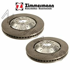 NEW Audi RS6 2003 Pair Set of 2 Front Vented Drilled Disc Brake Rotors Zimmerman