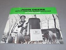Vintage Original 1963 John Deere 110 Lawn Garden Tractor Brochure Catalog OLD!!!