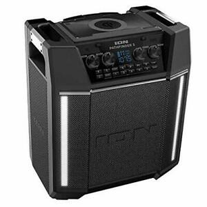 ION Pathfinder 3 Bluetooth Portable Speaker with Wireless Qi Charging Renewed