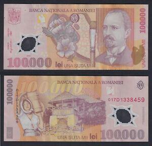 Romania - 100.000 lei Banca Nationala a Romaniei 2001 SPL/XF  A-06