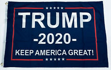 DONALD TRUMP 2020 Keep America Great Blue FLAG 2x3 Double Sided NYLON Grommets