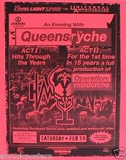 "QUEENSRYCHE ""OPERATION:MINDCRIME ACT I &II"" LOS ANGELES 2005 CONCERT TOUR POSTER"