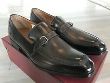 Bally Brown Lorian Leather Loafers Size US 10 Made in Switzerland