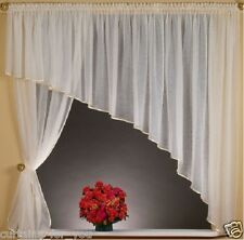 WHITE ECRU CRUSHED VOILE FOR YOU BEAUTIFUL NET CURTAINS SMALL MEDIUM WINDOW