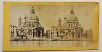 Venezia Santa Maria Della Salute Italia Foto Stereo Vintage Albumina c1860