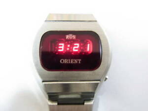 Vintage Digital-Red LED-Men's-Watch-ORIENT Touchtron Quartz 1976  Utra Rare