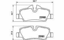 4x BREMBO Bremsbeläge hinten für MINI P 06 090 - Mister Auto Autoteile