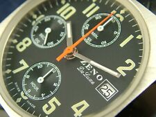 Vintage Rare Zeno Automatic Chronograph Watch Valjoux 7750 Watch NOS 1980S