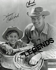 """CHUCK CONNORS & JOHNNY CRAWFORD AUTOGRAPHED, THE RIFLEMAN  8""""x10"""" B&W  Reprint"""