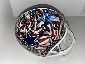 Emmitt Smith Autographed Dallas Cowboys Full Size Rep Custom Helmet holo auth