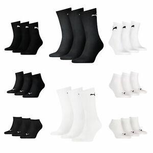 Puma Socken 3er 6er 9er 12er 18er Pack Paar Sneaker Quarter Tennis Socken 43-46