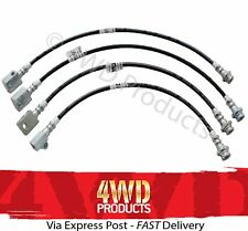 Braided Extended Brake Hose/Line kit - for Nissan Patrol GU (Y61) 3.0TDi (13-16)