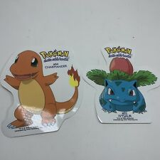 Vintage 90's POKEMON NINTENDO VINYL DECAL STICKERS - Ivysaur & Charmander