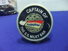vtg badge milky bar captain ss milky bar luminous plastic 1960s 70s space race