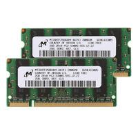 2x 2GB PC2-5300 667mhz 200PIN SO-DIMM Laptop Memory Ram PC5300 Low Density CL5