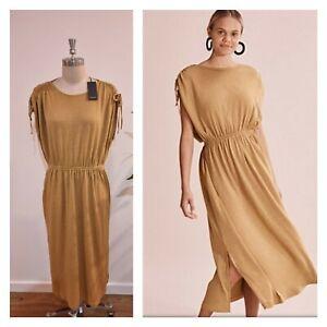 NWT COUNTRY ROAD MAXI DRESS XL 16 women | Tie Detail Summer Dress Cinnamon R$129
