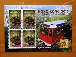 2015 AUSTRALIA MINI SHEET HONG KONG STAMP SHOW CTO