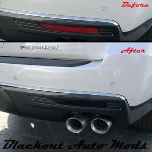 2021 Chevrolet Suburban Rear Bumper Reflector Blackout Kit Vinyl Overlay