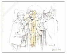 Ex-libris Juillard Blake et Mortimer Trio ex signé 13x15,7