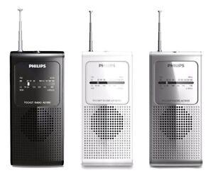 Philips Original AE1500 Portable Pocket Size Radio FM/AM Tuner Battery Operated