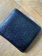 Gucci Black leather Wallet Bi-Fold Good Condition Card/Notes Holder Used