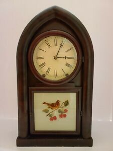 Antique 1860's GILBERT Clock Co. Victorian Beehive Striking Mantel Shelf Clock