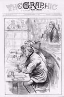 1873 - Antique Print SKETCHES Tichborne Trial Court Claimant Legal Lawyer (023)
