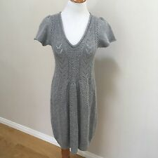 Sleeping On Snow Anthropologie Buttonwood Cashmere Wool Sweater Dress Sz Small