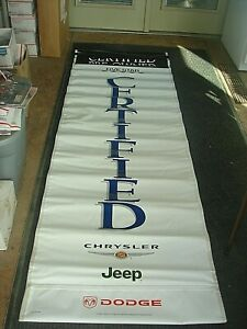 Vintage Chrysler Mopar Jeep Plymouth Dodge Used Car Dealer Ship Banners Flag