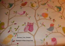 Handmade Lampshade Harlequin What a Hoot Pink Fabric 20cm Baby Nursery Owl
