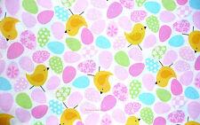 Glitter Easter Egg Chicks  Cotton Fabric Glitter Patty Reed  BFab