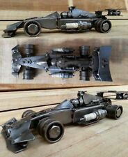 Formula 1 racing car sculpture from scrap metal. F1, Car parts steel model. 28cm