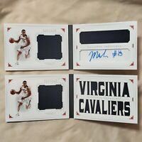 2x Malcolm Brogdon National Treasures Collegiate Rookie Patch Auto Booklet RPA