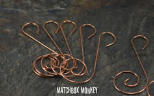 10 Decorative Copper S Swirl Wire Christmas Tree Ornament Hooks or Hangers NEW!