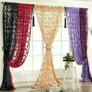 New Lace Net Curtain Butterfly String Room Window 1*2M Butterfly Line Curtain